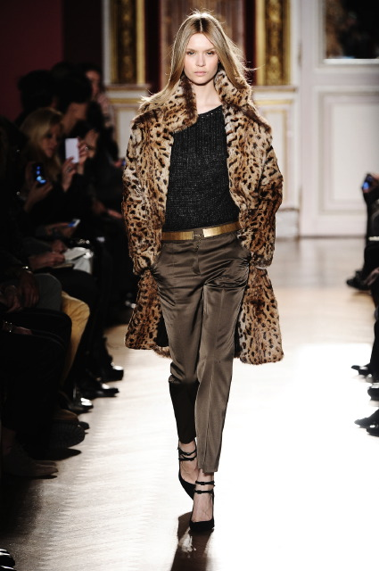 леопардовые принты в мехах Barbara Bui - Fall 2012-Winter 2013