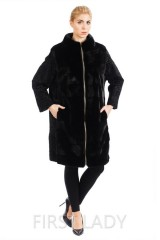 Italian mink coat color of eggplant