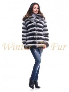 Шиншилловая меховая куртка OneColor Арт 1472