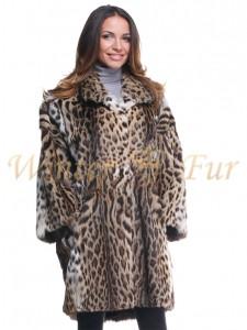 Леопардовая шуба Арт 890