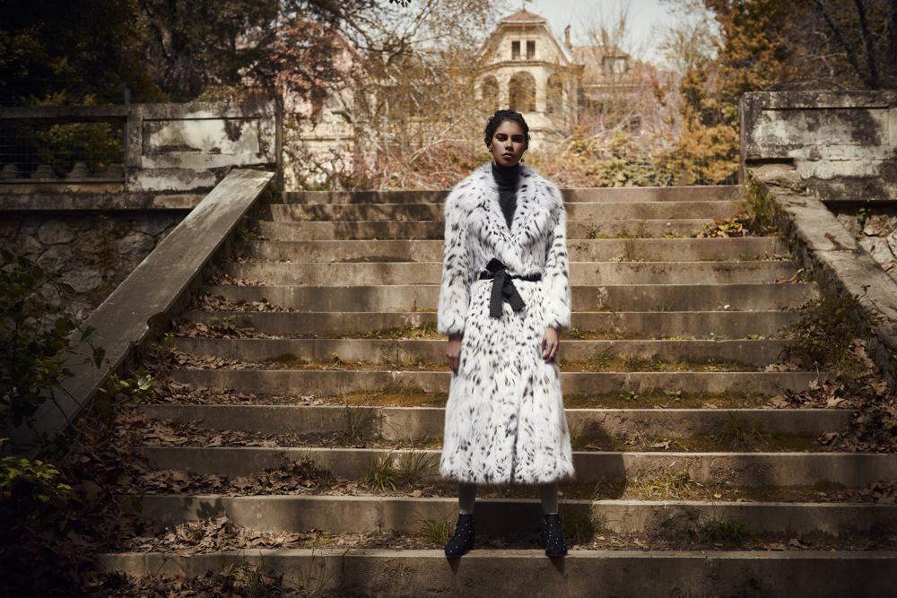Длинное пальто Divine Luxury Furs из рыси из меха NAFA