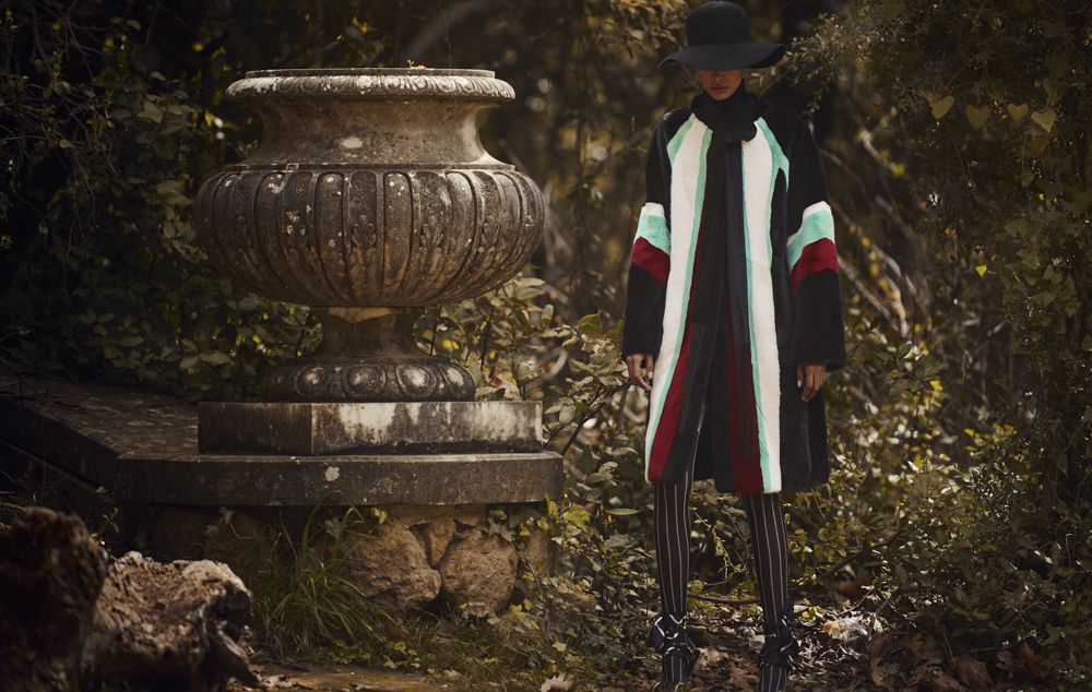 Цветная норковая шуба Divine Luxury Fur из меха NAFA