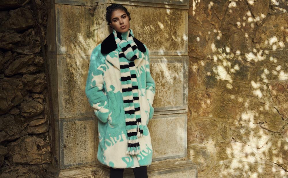 Норковая шуба мятного цвета Divine Luxury Fur из меха NAFA