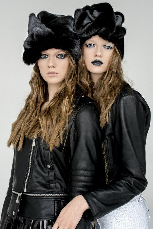 Кожаные куртки Avenue c норковыми аксессуарами из меха NAFA