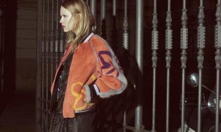 Куртка EGO с принтами из меха NAFA