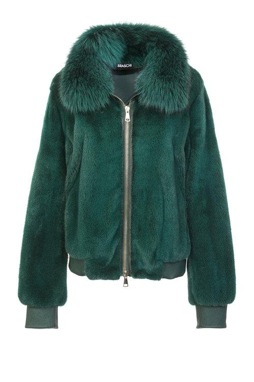 Изумрудная куртка Braschi из меха NAFA
