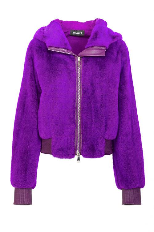Фиолетовая куртка Braschi из меха NAFA