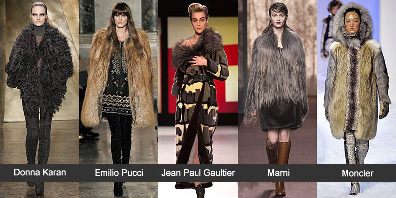 Модные шубы 2014 - Donna Karan, Emilio Pucci, Jean Paul Gaultier, Marni, Moncler Gomme Rouge