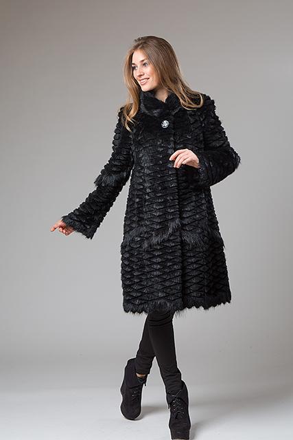Пальто из вязанного меха от Miss Lora(Мисс Лора)