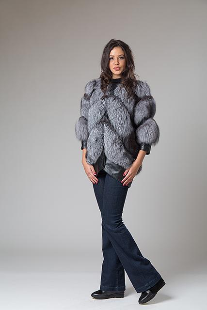 Меховая куртка из чернобурки от Miss Lora(Мисс Лора)