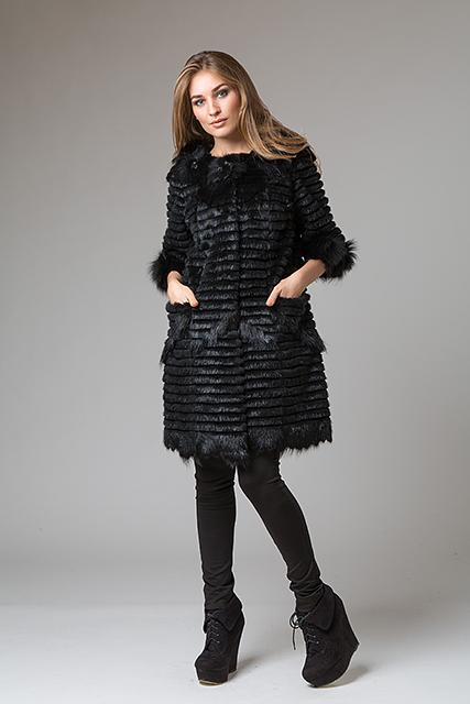 Меховое пальто из вязанного меха от Miss Lora(Мисс Лора)