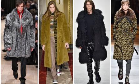 Европейские дизайнеры мужской одежды продвигают мех в осенней коллекцию