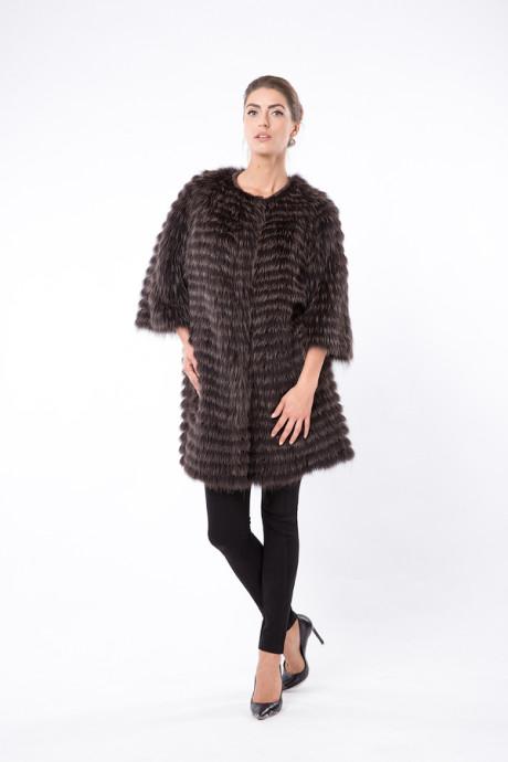 Итальянское двухстороннее пальто из меха лисы