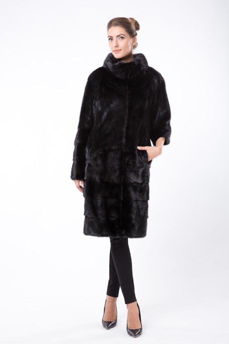 Черное норковое пальто