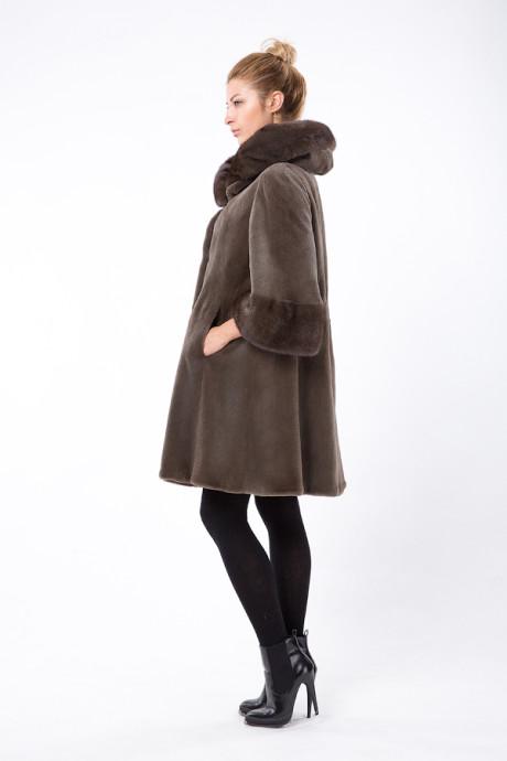 Итальянское норковое пальто цвета Dust