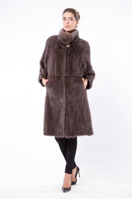 Итальянское норковое пальто цвета Smoked Pink