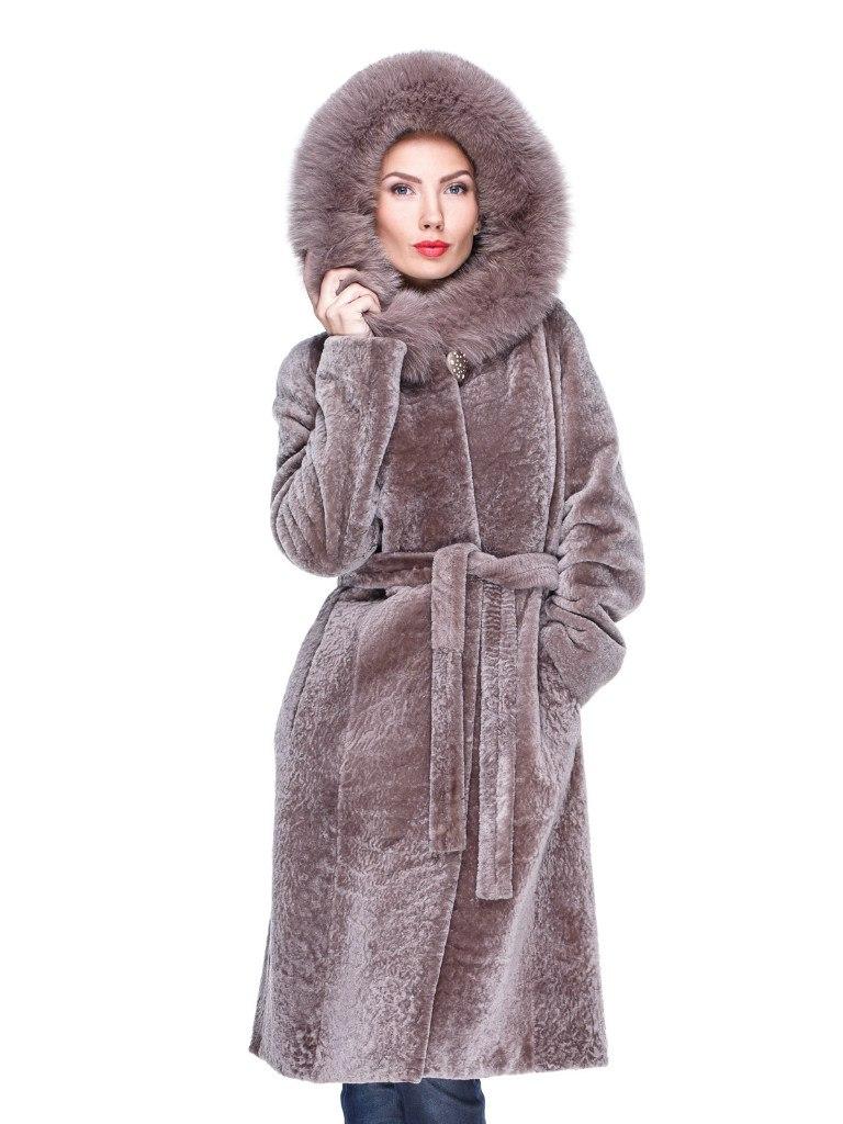 Меховое мутоновое пальто