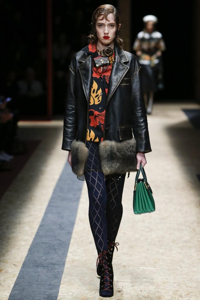 Шубы и меха осени 2016 от Prada