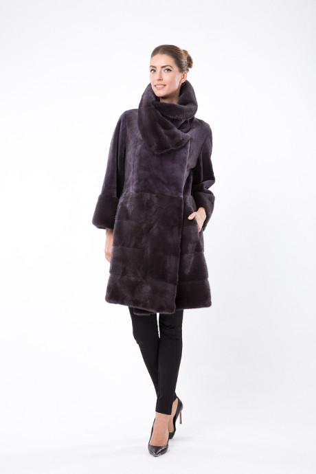Норковое итальянское пальто цвета Sea Lion