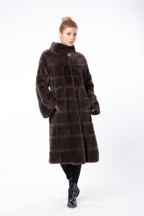 Итальянское норковое пальто цвета Smoked Grey