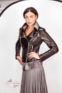 Остроактуальная кожанная куртка - трансформер