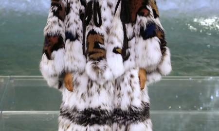 Шикарная шуба Fendi из меха рыси