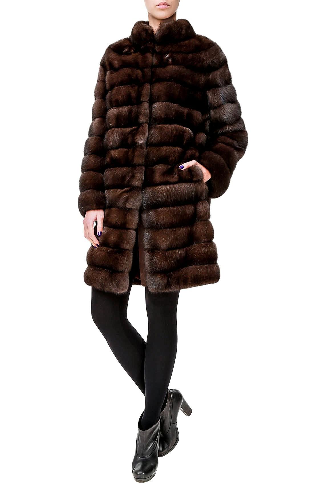 Итальянское пальто из меха соболя от Antonie Didone