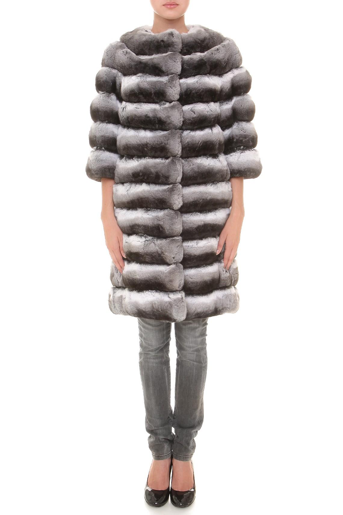 Итальянское пальто из меха шиншиллы Fabrizio Ferrario Furs
