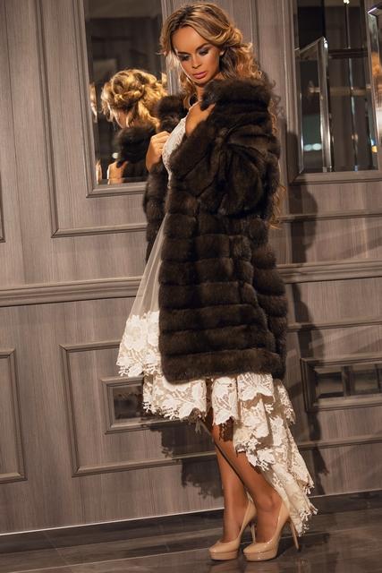 Модная соболья шуба от Манцони24