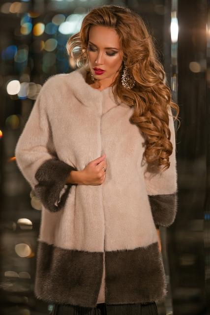 Норковое итальянское пальто