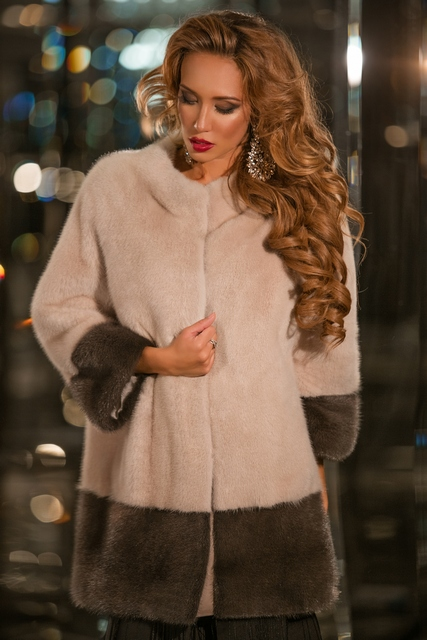 Норковое пальто из Италии от Манцони