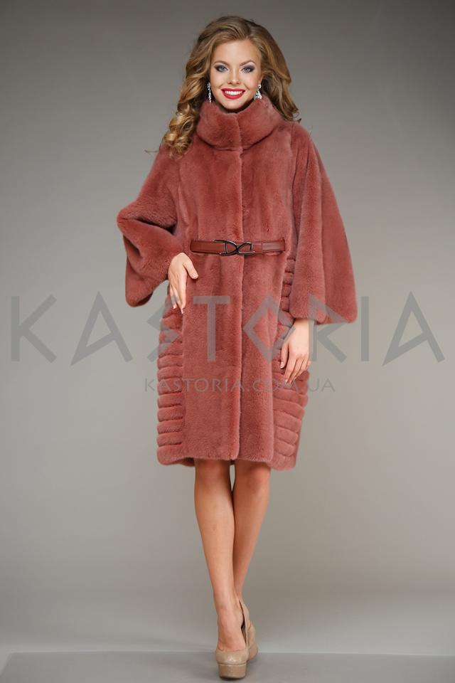 Бордовое греческое меховое пальто