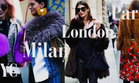 Уличный меховой стиль 2017-2018 (Нью-Йорк, Милан, Лондон, Париж)