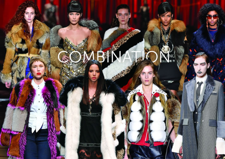 КОМБИНАЦИЯ с мехом в жилетках, шубах, свитерах, куртка, манто, плащах
