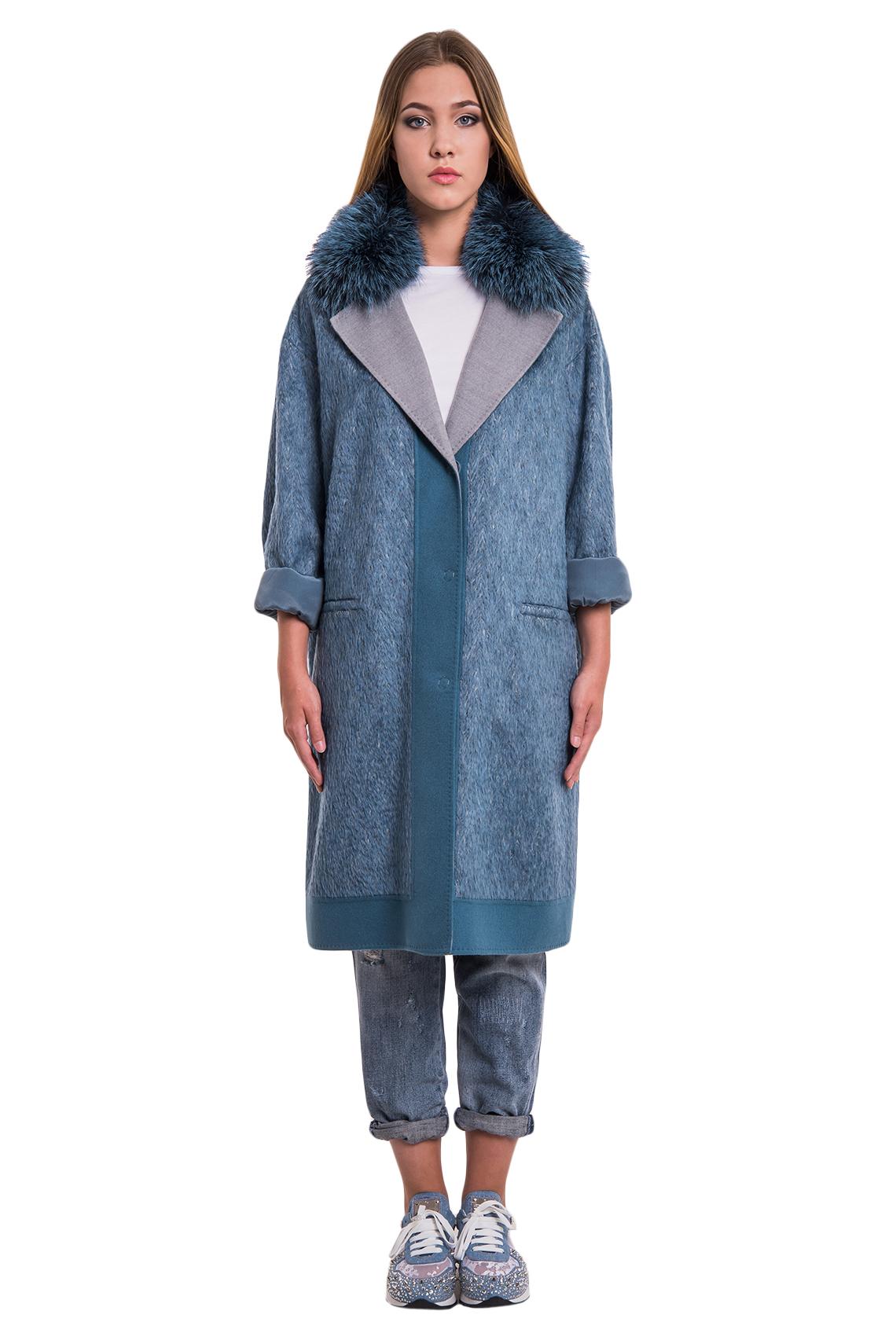 Пальто Manzoni24 кашемир/silver fox арт. 17M110. Фото 1