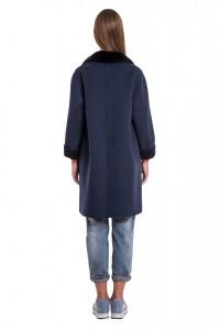 Пальто Manzoni24 кашемир/норка арт. 17M802db. Фото 3