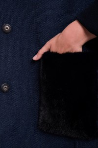 Пальто Manzoni24 кашемир/норка арт. 17M802db. Фото 4