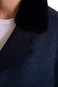 Пальто Manzoni24 кашемир/норка арт. 17M802db. Фото 5