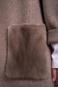 Пальто Manzoni24 кашемир/норка арт. 17M802ss. Фото 5