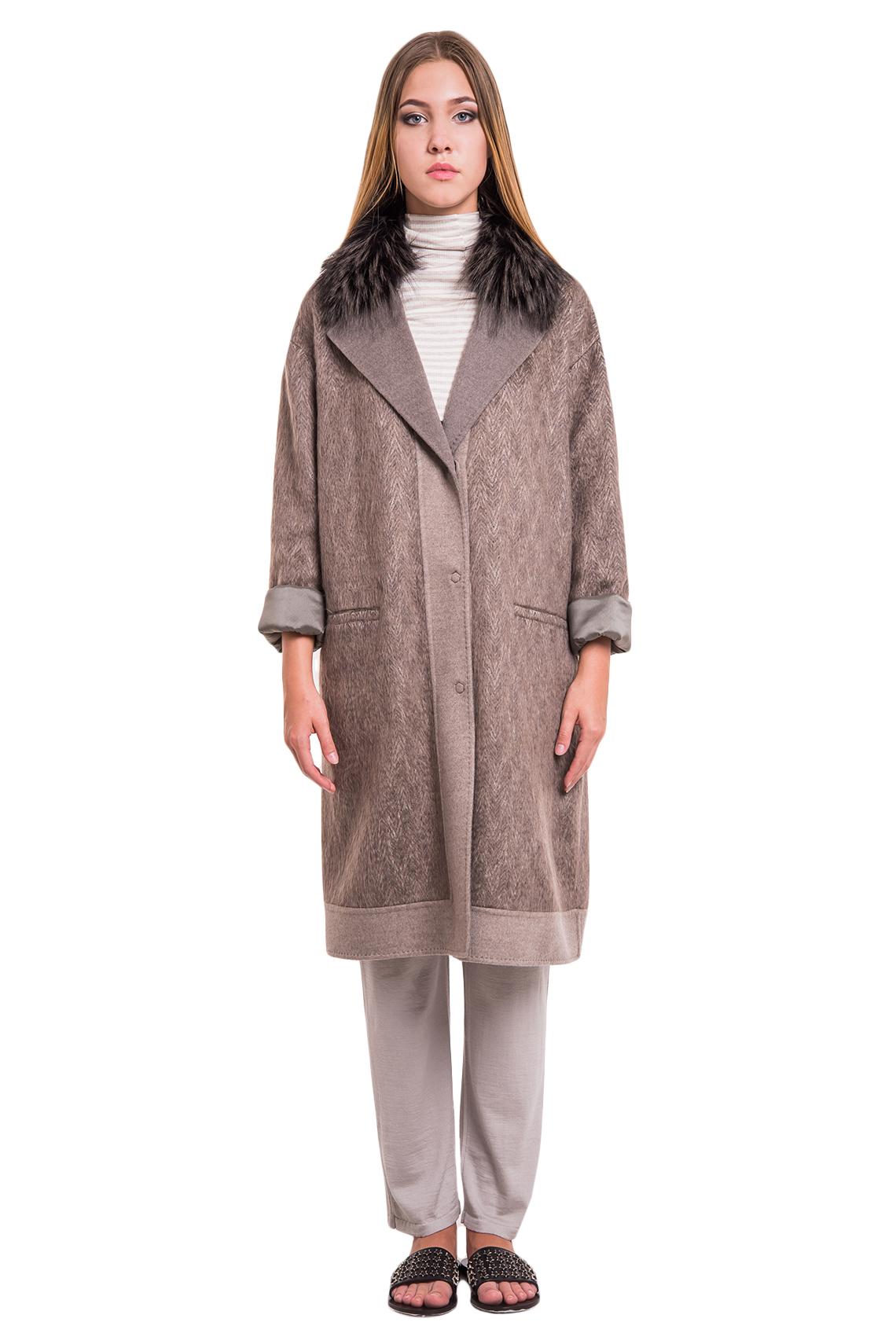 Пальто Manzoni24 кашемир/silver fox арт.17M110. Фото 1