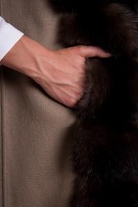 Жилет Antonio Didone кашемир/соболь Арт 200901. Фото 4