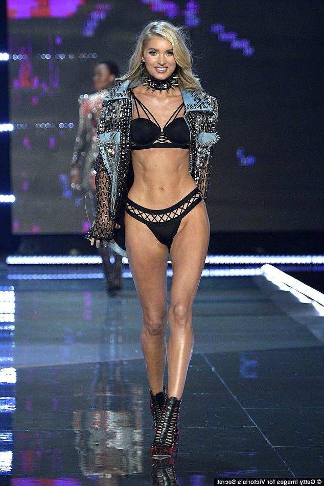 Популярная фотомодель Victoria's Secret  - Эльза Хоск в соболиной шубе