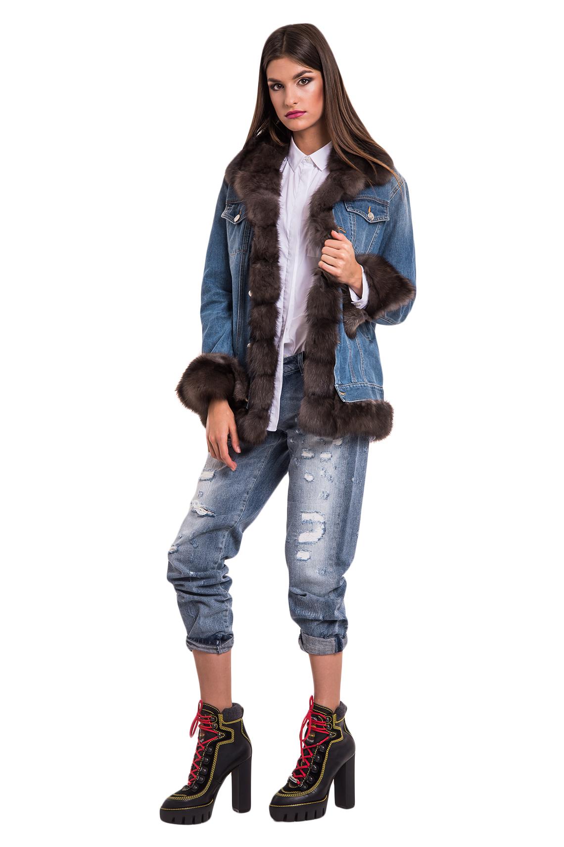 Джинсовая куртка Nello Santi соболь dark Арт 101. Фото 1