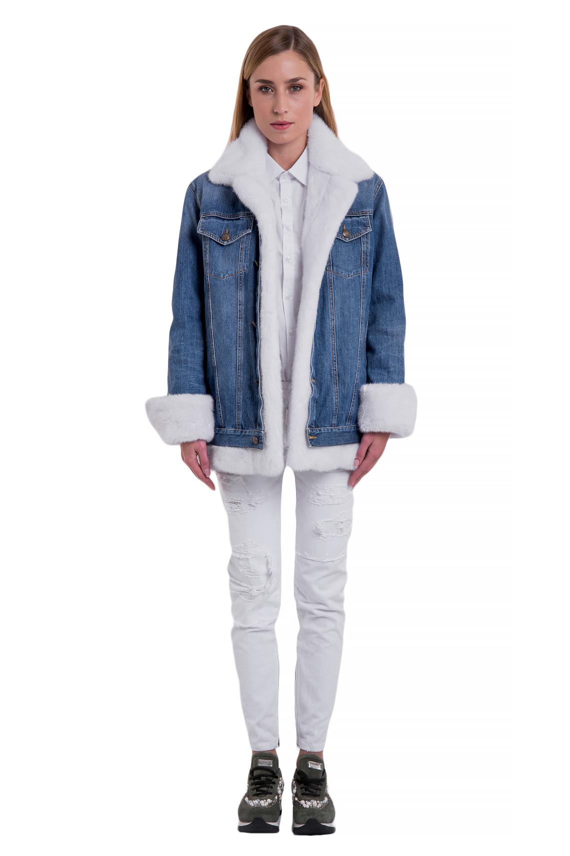 Джинсовая куртка Nello Santi норка Арт 103. Фото 1