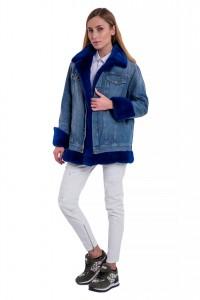Джинсовая куртка Nello Santi норка Арт 103. Фото 2