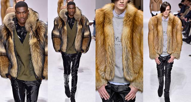 Мужские шубы, меховые куртки и жилеты 2018 от Balmain