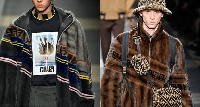 Мужские меховые куртки 2018 от Fendi