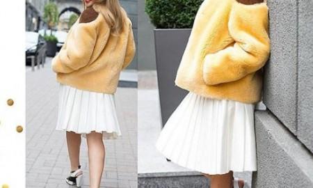 Тина Кароль примерила цветную шубку от Louis Vuitton