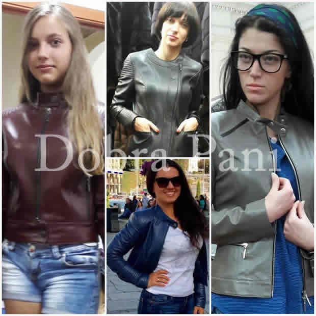 Кожаные женские куртки от фабрики Добра Пани в Киеве