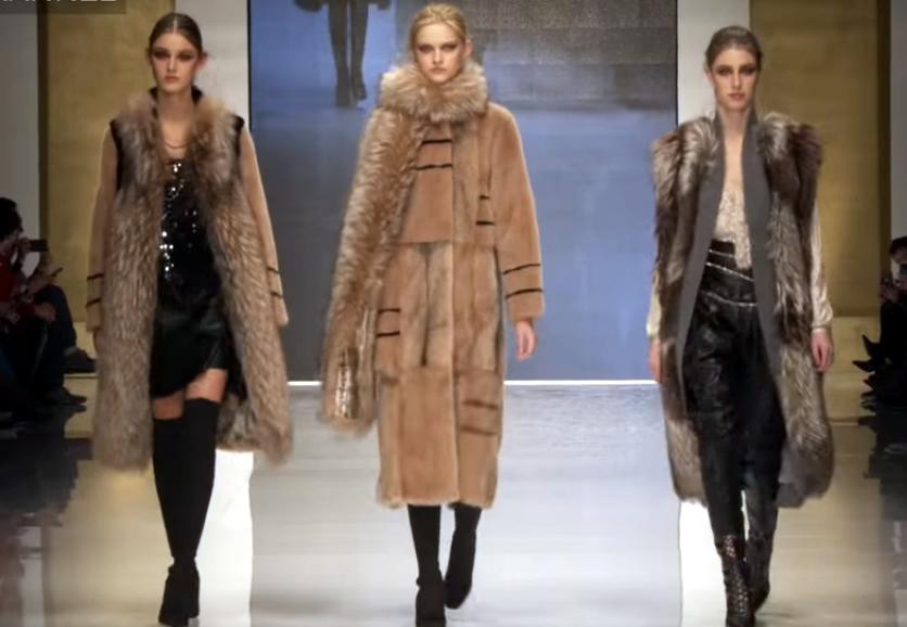 Меховые пальто, шубы и жилеты на меховой выставке в Италии